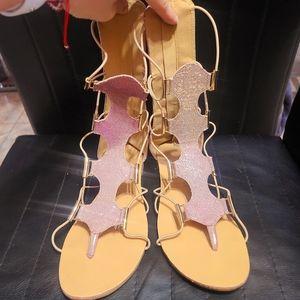 Kensie Girl Tall Gladiator Sandals